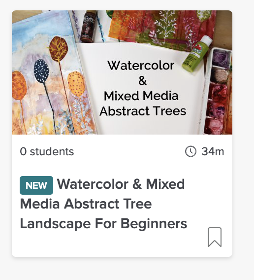 Watercolor & Mixed Media Abstract Tree Landscape For Beginners Online Class