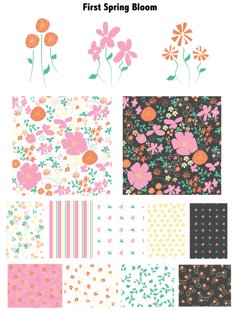 First Spring flowers pattern
