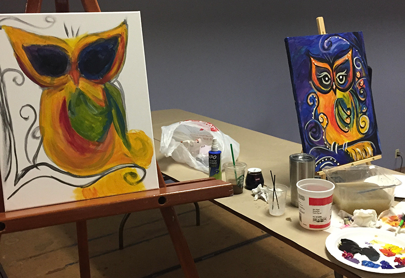 picture of karens owl art lesson